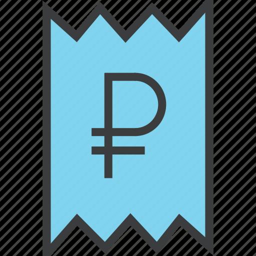 bill, business, finance, invoice, receipt, ruble, statement icon