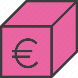 delivery, euro, offer, package, product, sale, shopping icon