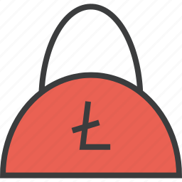 bag, balance, ecommerce, finance, litecoin, online, shopping icon