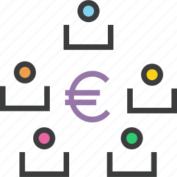 business, euro, exchange, funds, stakeholders, transaction, transfer icon