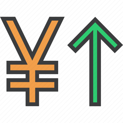 currency value, finance, foreign exchange, increase, shares, stocks, yen icon