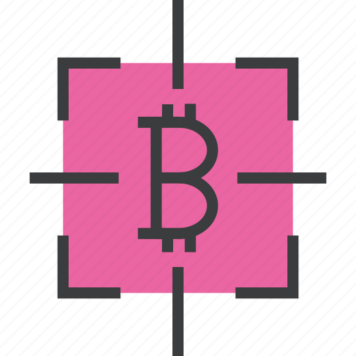 bitcoin, digital currency, ecommerce, growth, monitor, target, usage icon