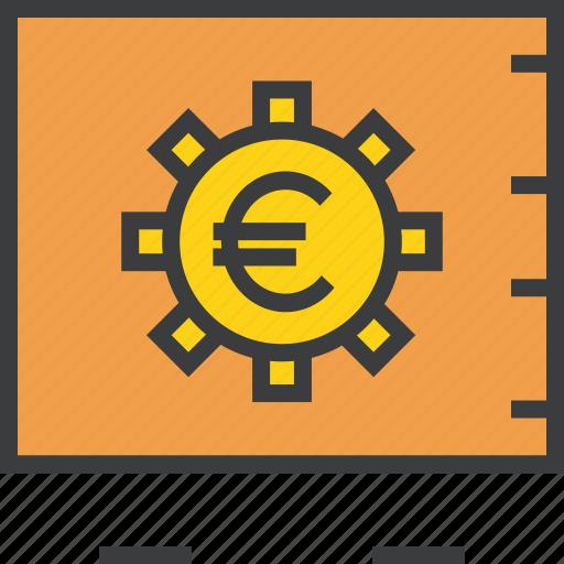 bank, banking, euro, locker, protection, safe, vault icon