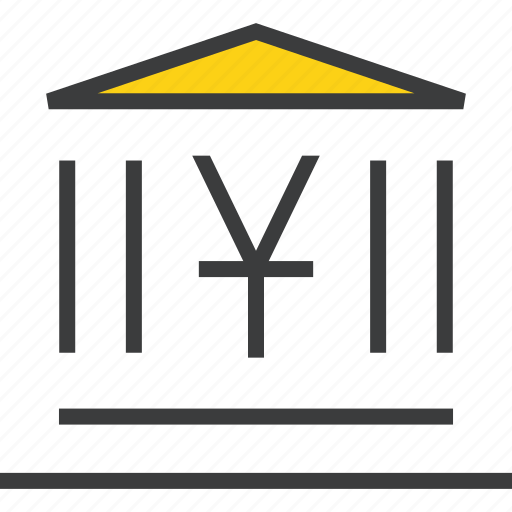 bank, banking, building, financial, instituition, institute, yuan icon