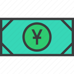 cash, chinese, currency, finance, money, trade, yuan icon