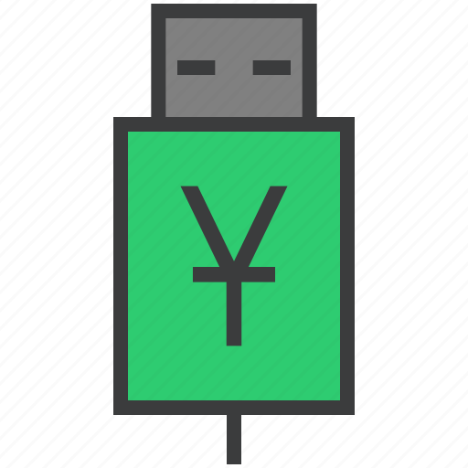 account, banking, charge, recharge, transfer, usb, yuan icon