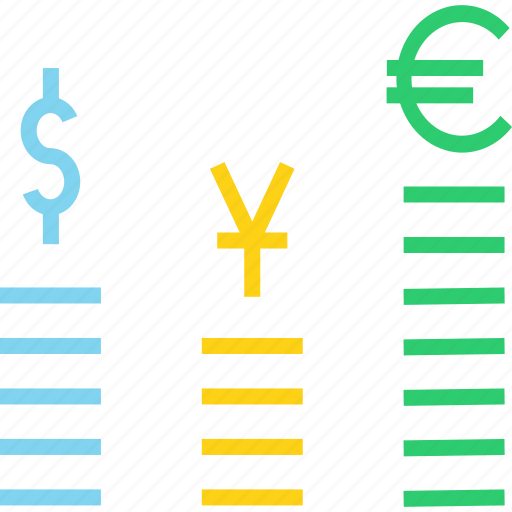 currency, dollar, euro, exchange, finance, foreign, yuan icon