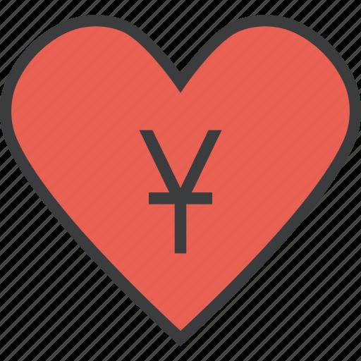 care, charity, donate, donation, love, trust, yuan icon