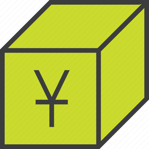 delivery, package, product, sale, shipping, shopping, yuan icon