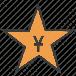 award, chinese, merit, price, reward, star, yuan icon