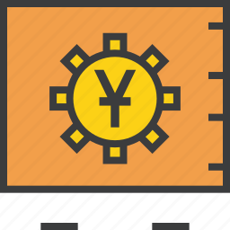 bank, banking, locker, safe, secure, vault, yuan icon