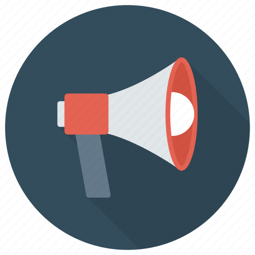 advertising, announcement, loud, loudspeaker, megaphone, news, speaker icon