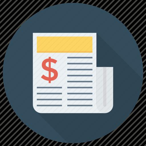 document, file, magazine, newspaper, page, press, sheet icon