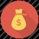 bag, cash, currency, dollar, dollarsign, finance, moneybag