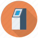 atm, atmcard, bank, cashmachine, debitcard, machine, robot icon
