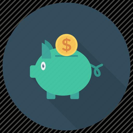 Cash, currency, dollar, finance, money, piggybank icon - Download on Iconfinder