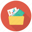 document, file, finance, folder, money, report icon