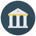 bank, bankbuilding, banker, banking, cash, finance, money icon