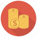 cash, currency, dollar, dollarcoins, finance, money, usdollarcoin icon