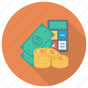 calculator, cash, currency, dollar, finance, money icon