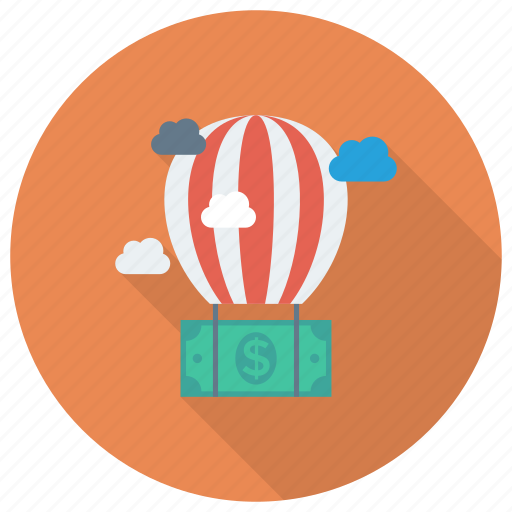 Ballon, cloud, currency, dollar, finance, money, payment icon - Download on Iconfinder