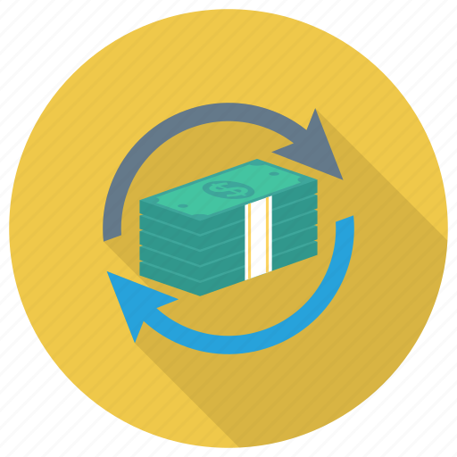 currency, dollar, finance, money, payment, refresh, reload icon