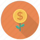 coins, currency, money, moneytree, nature, plant, tree icon