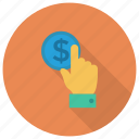 card, cash, hand, money, payment, payperclick, ppc icon