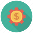 gear, money, options, settings icon