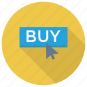 buy, cart, click, ecommerce, shop, shopping icon