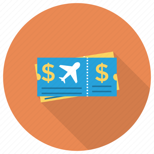 planeticket, ticket, tourism, transport, travel icon
