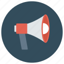 advertising, announcement, loud, loudspeaker, megaphone, news, speaker icon
