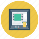atm, atmscreen, bank, card, cash, cashmachine, money icon