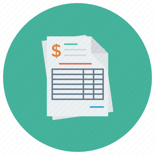 Accounting, bill, document, invoice, invoicetemplate, payment, receipt icon - Download on Iconfinder