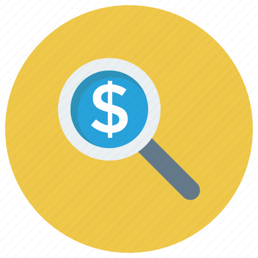 currency, dollar, finance, find, money icon