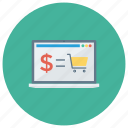 e, ecommerce, online, onlineshopping, shop, shopping, shoppingcart icon