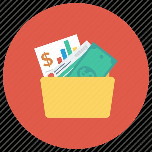 document, file, finance, folder, money, report icon