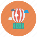 ballon, cloud, currency, dollar, finance, money, payment