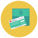 cash, cheque, currency, finance, money, payment icon