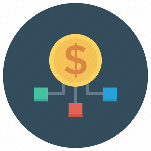 connection, internet, management, money, network, social icon