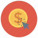 cash, click, money, payment, payperclick, ppc icon