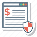 banking, business, finance, internet, money, security, seo icon