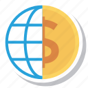business, cash, currency, dollar, finance, globemoney, worldcurrency icon