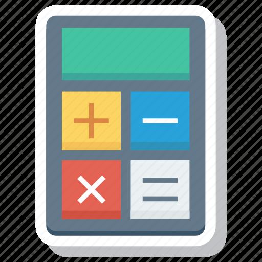 accounting, calculate, calculation, calculator, finance, math icon