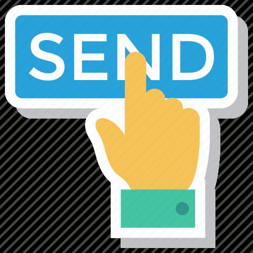 currency, dollar, finance, hand, money, online, send icon