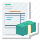 currency, dollar, finance, invoice, money, payment, receipt icon