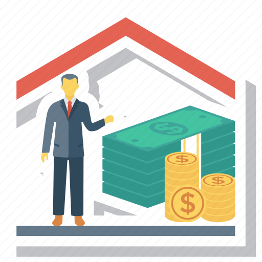Estate, home, house, loan, mortgage, mortgagerates, real icon - Download on Iconfinder