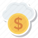 coin, computing, money, payment, storage, weather icon