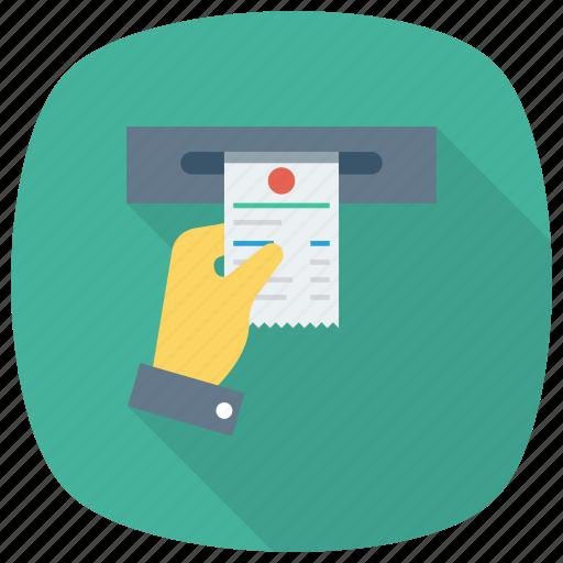 Atm, card, cash, credit, money, receipt icon - Download on Iconfinder