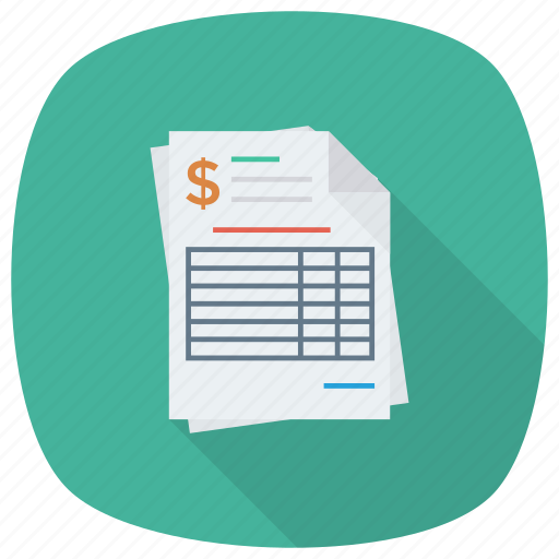 accounting, bill, document, invoice, invoicetemplate, payment, receipt icon